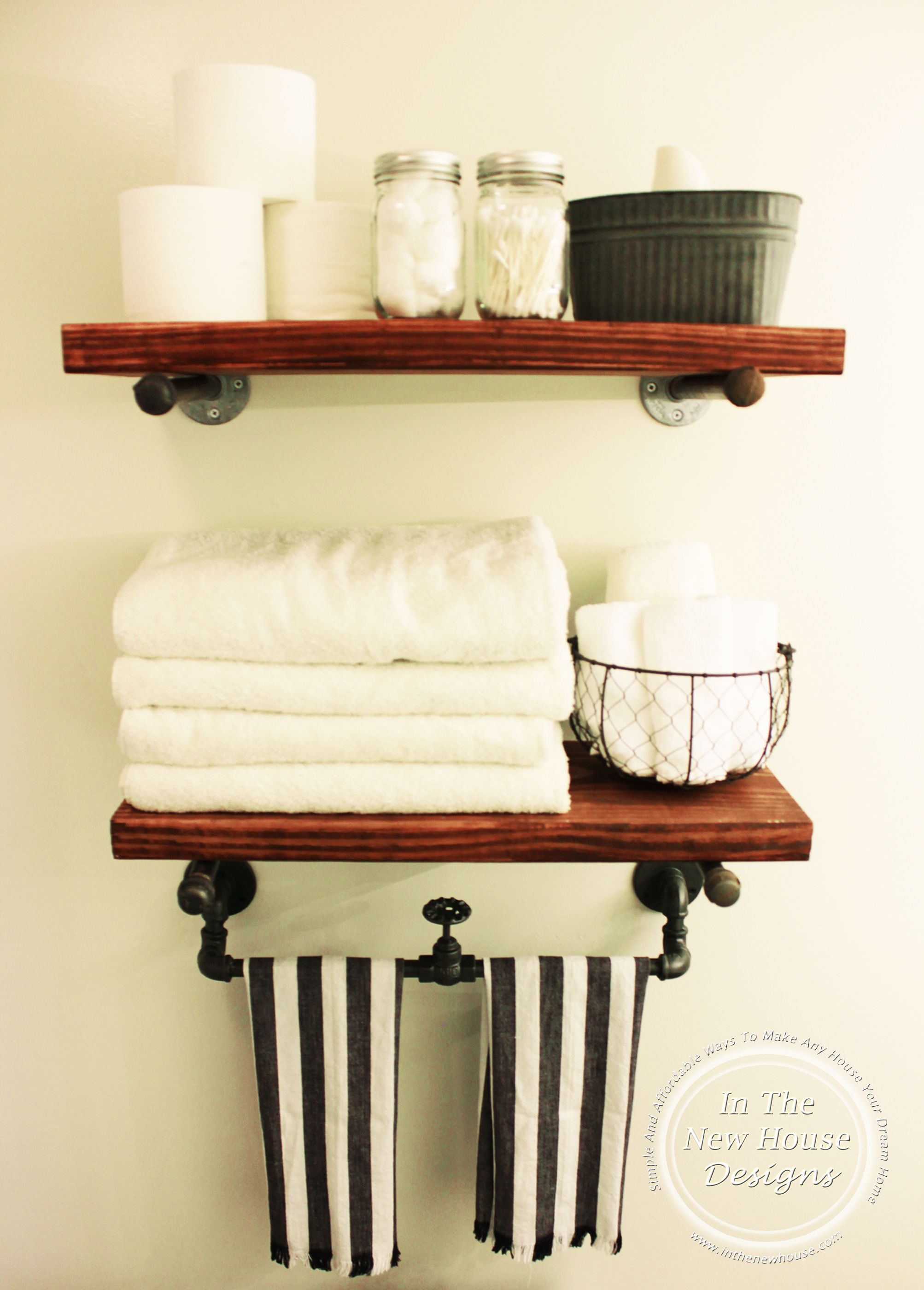 Diy Industrial Farmhouse Shelving Industrial Bathroom