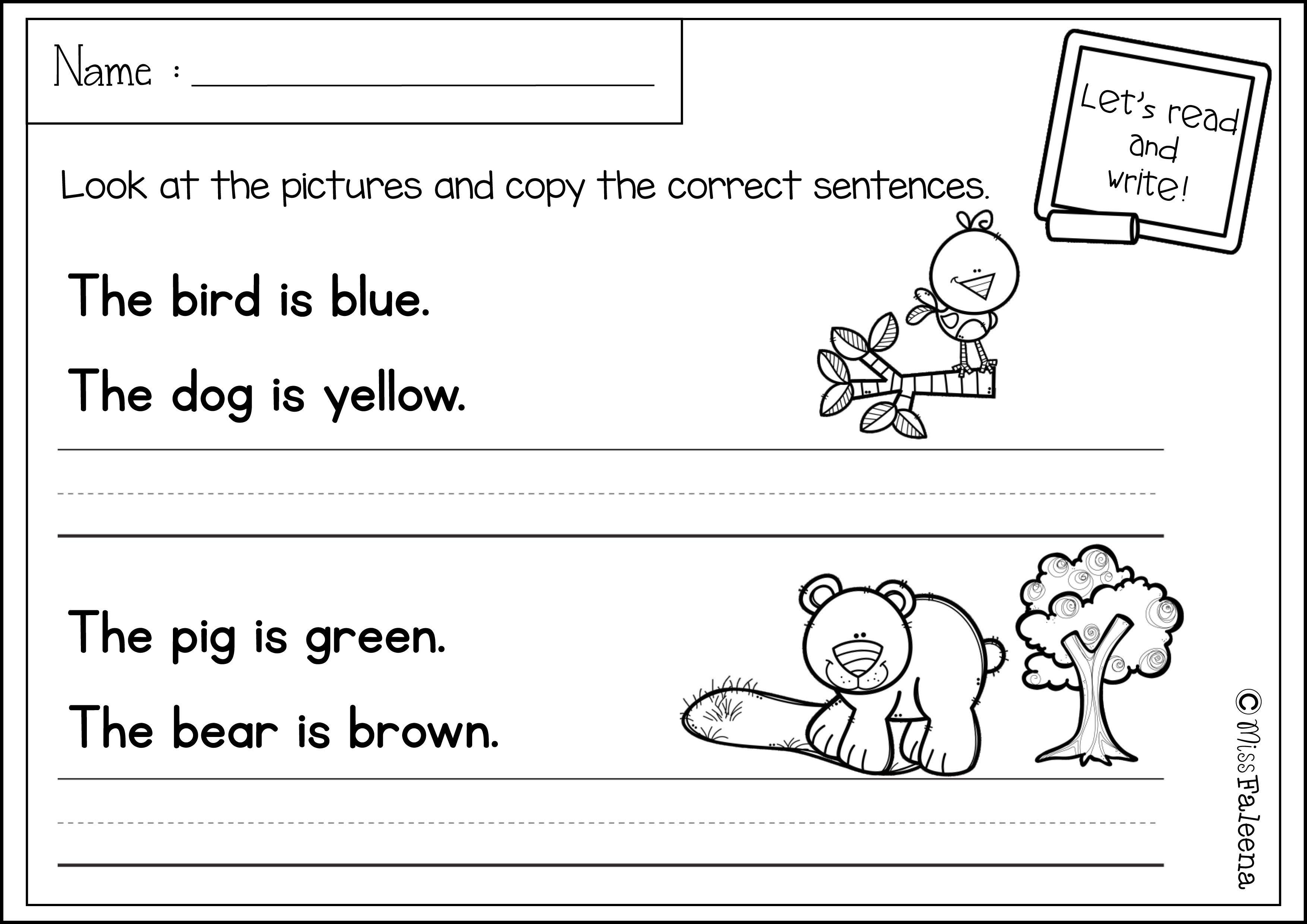 Free Sentence Writing Writing Worksheets Writing Worksheets Kindergarten Sentence Writing Kindergarten free sentence writing worksheets