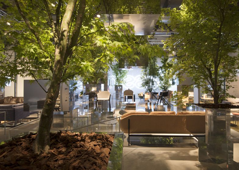 Sou Fujimoto suspends trees above Cassina's Milan display space