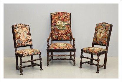 Sedie Ottocento ~ N poltrone luigi filippo epoca fine raro trittico sedie