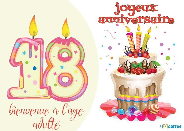 Carte D'invitation Anniversaire 18 Ans Gratuite À Imprimer Lovely Les Meilleures Phrases Pour ...