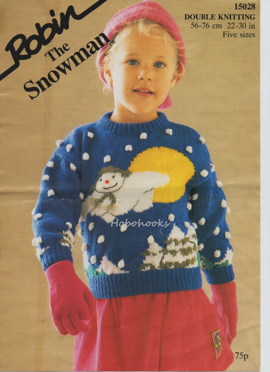 baby childrens snowman sweater knitting pattern pdf Christmas jumper ...