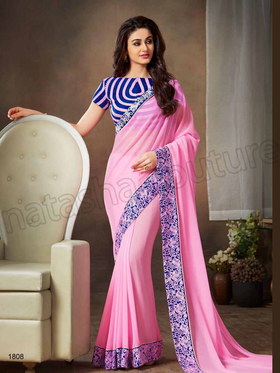 Designer Saree#Pink#Indian Wear #Desi Fashion #Natasha Couture ...