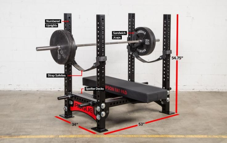 Rogue Monster Westside Bench Rogue Fitness Gym