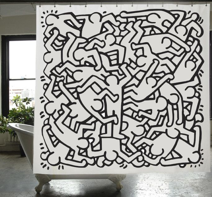 Keith Haring Shower Curtain Keith Haring Keith Haring Art Cool