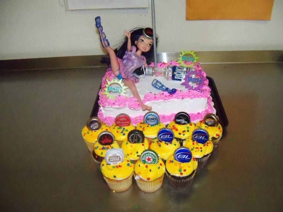 how to make a beer bottle tower cake