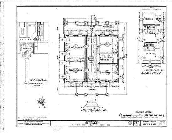 Plantation house floor plans historic greek revival house for Historic homes floor plans