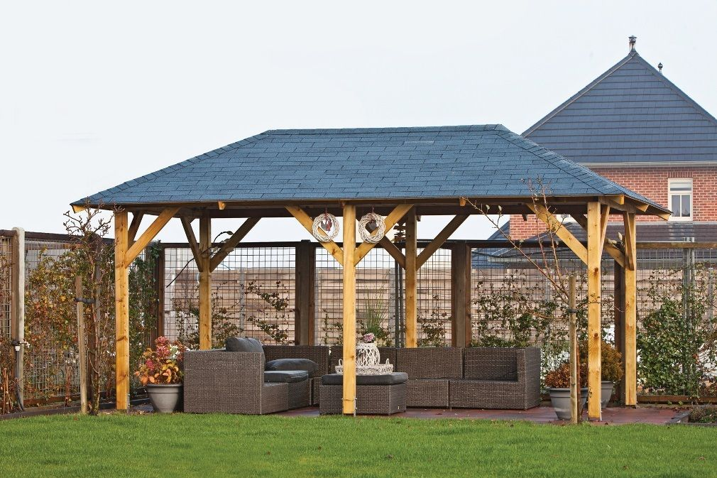 Wooden Gazebos To Improve The Look Of The Garden Decorifusta Wooden Gazebo Wooden Garden Gazebo Gazebo Plans