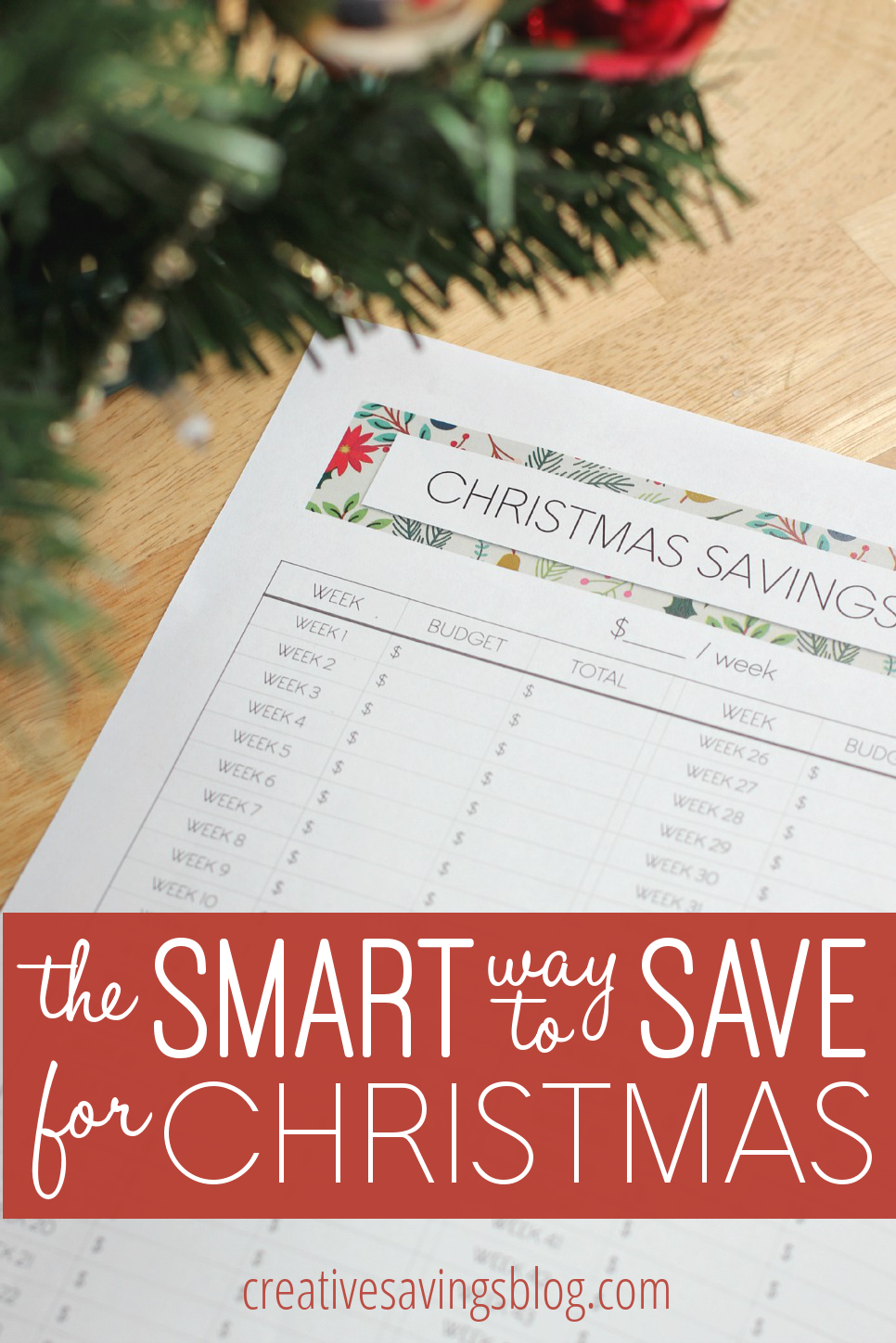 The Smart Way To Save For Christmas Save Pinterest Free