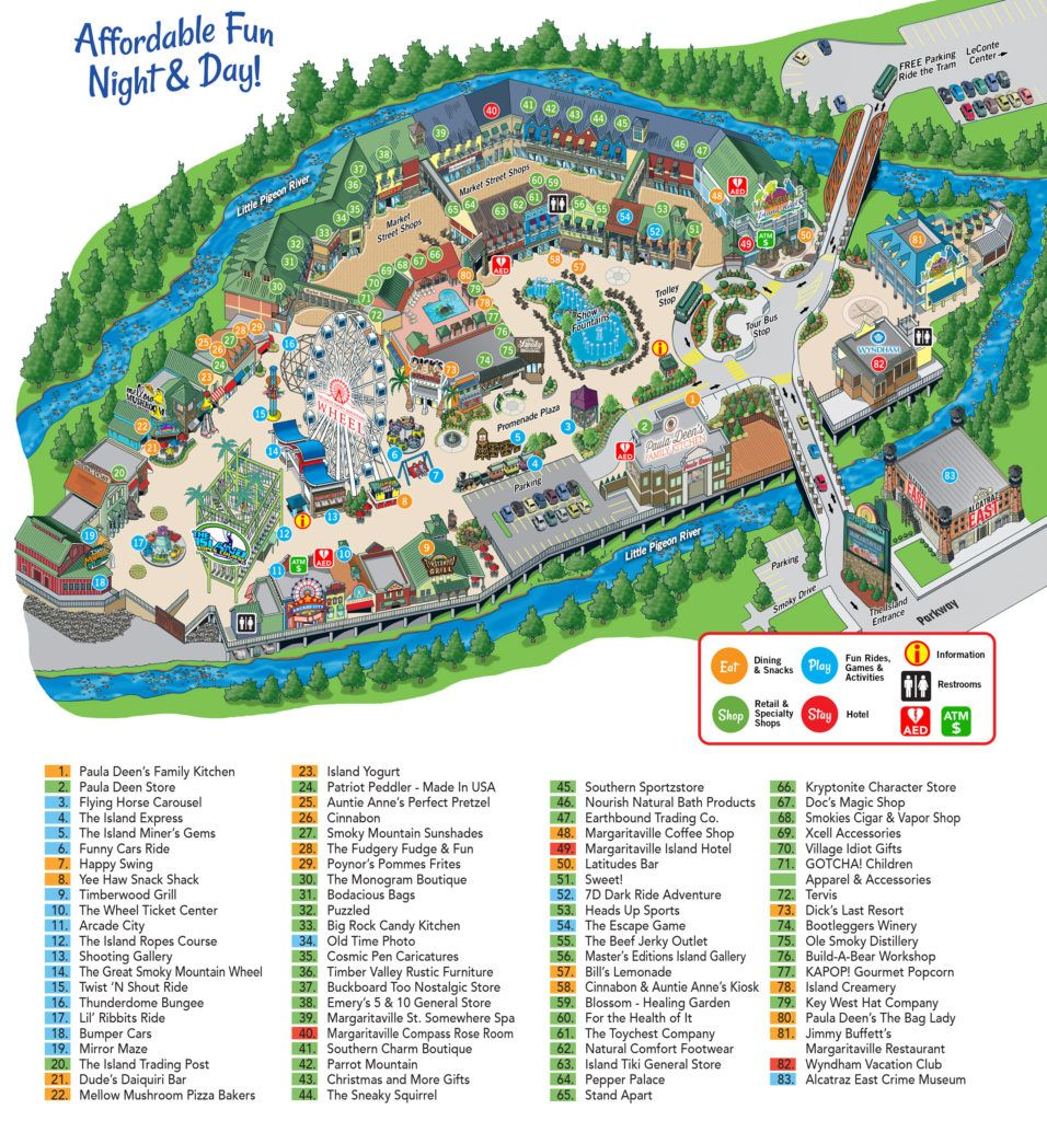 island map  the island at pigeon forge. island map  the island at pigeon forge  pigeon forge tennessee