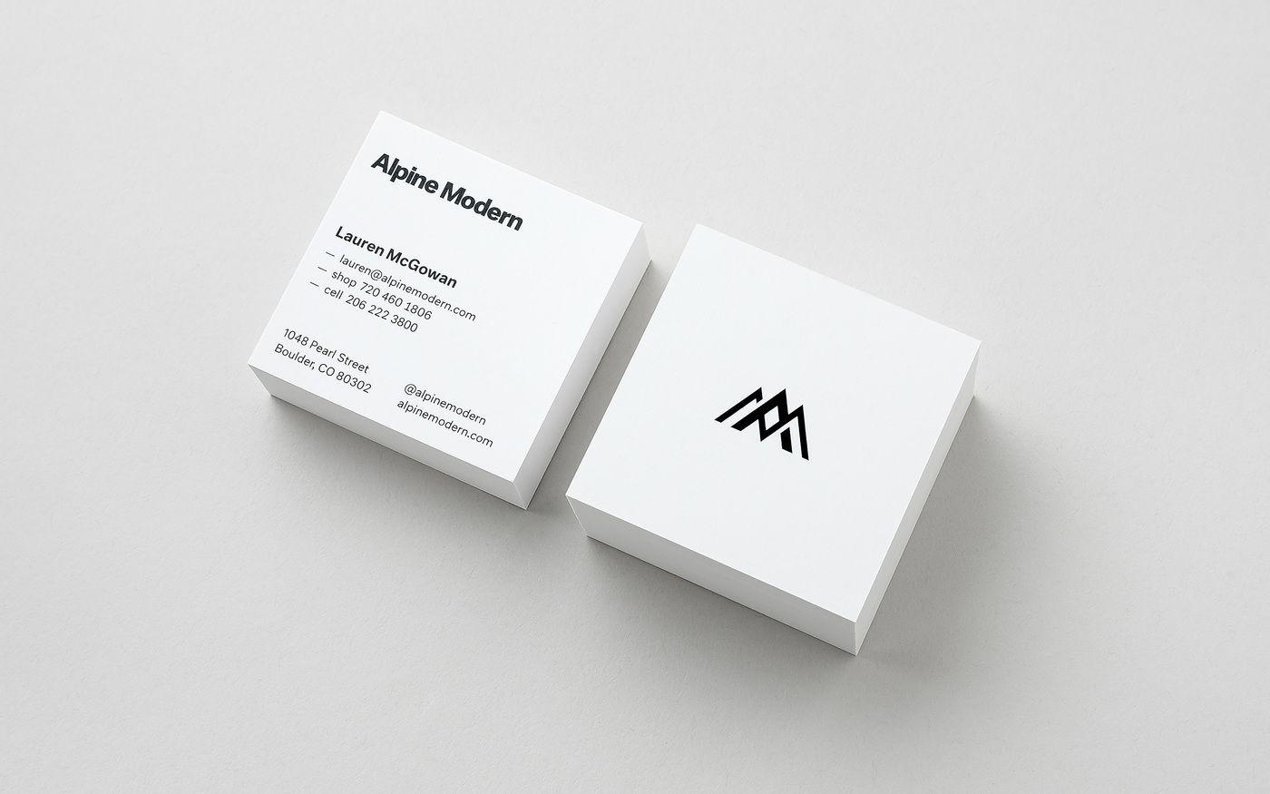 Cast Iron Design Alpine Modern Business Cards 1 Jpg Modern Branding Alpine Modern Branding Design Studio