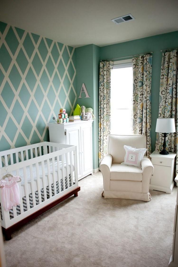 peinture décorative dessin géométrique- sublimez les murs ... - Comment Dessiner Sur Un Mur De Chambre