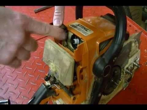 How To Replace The Bar Chain Oil Pump Worm Gear On A Stihl Ms 029 Chai Stihl Chainsaw Repair