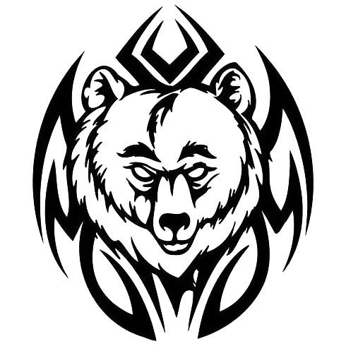 Tribal Head Bear Tattoo Design Tribal Bear Tattoo Tribal Bear Bear Tattoos