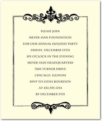 corporate event invitation samples Book Covers Invitation - Formal Business Invitation