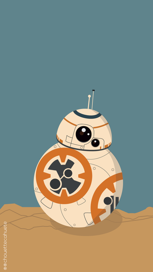 Most popular tags for this image include: geek, iphone, nerd, star wars and bb8