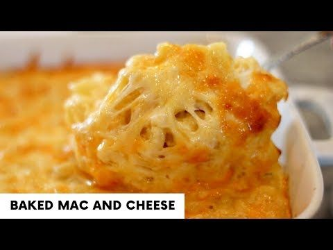 Baked mac and cheese #bakedmacandcheeserecipe