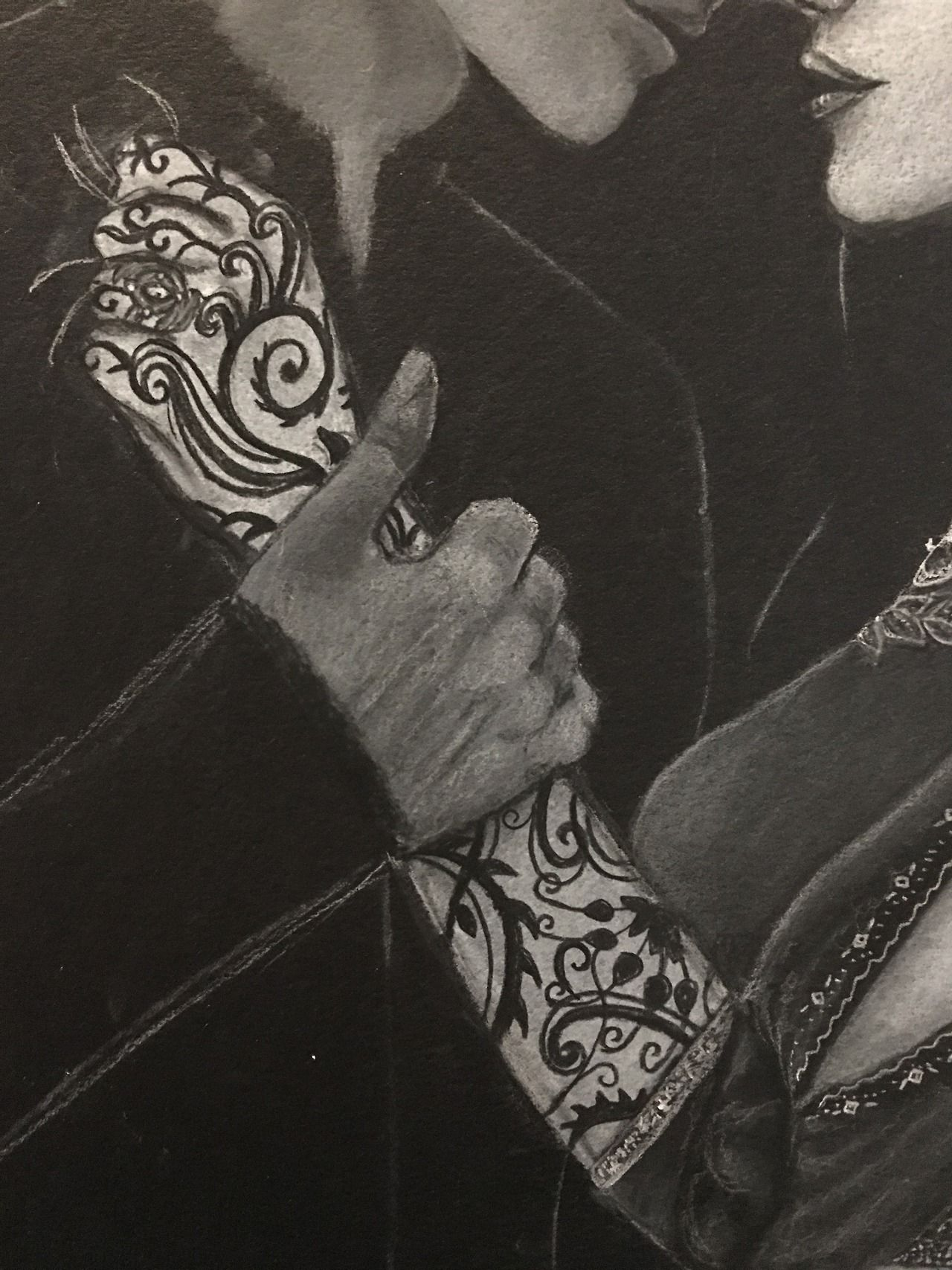 Art By Crystal — Close up details of my WIP of Feyre and Rhysand. I...