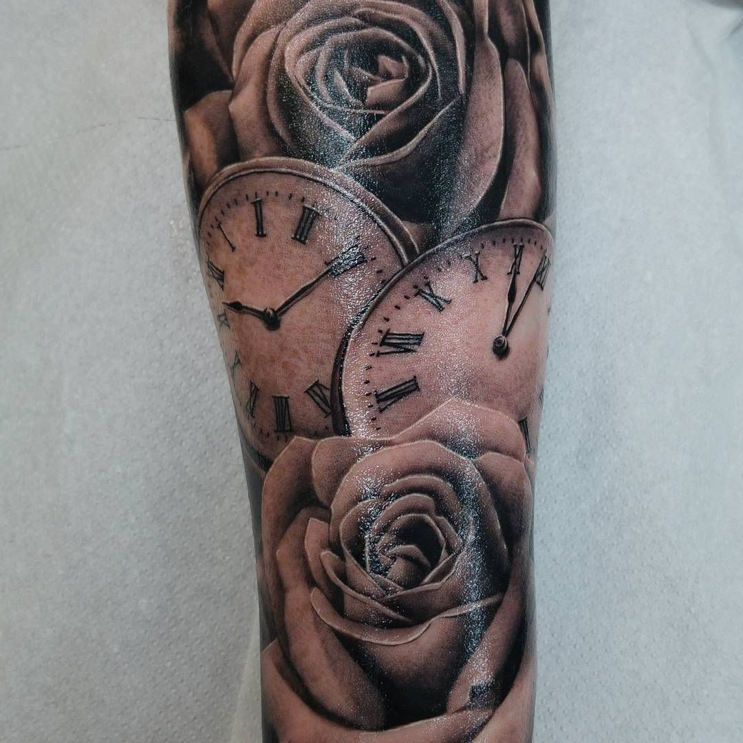 Watch Sleeve Tattoo: Clock Tattoo Sleeve, Pocket