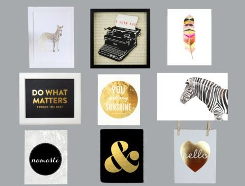 Formal Living Dining Room Gallery Wall Art Print Roundup Lots Of Gold And Silver