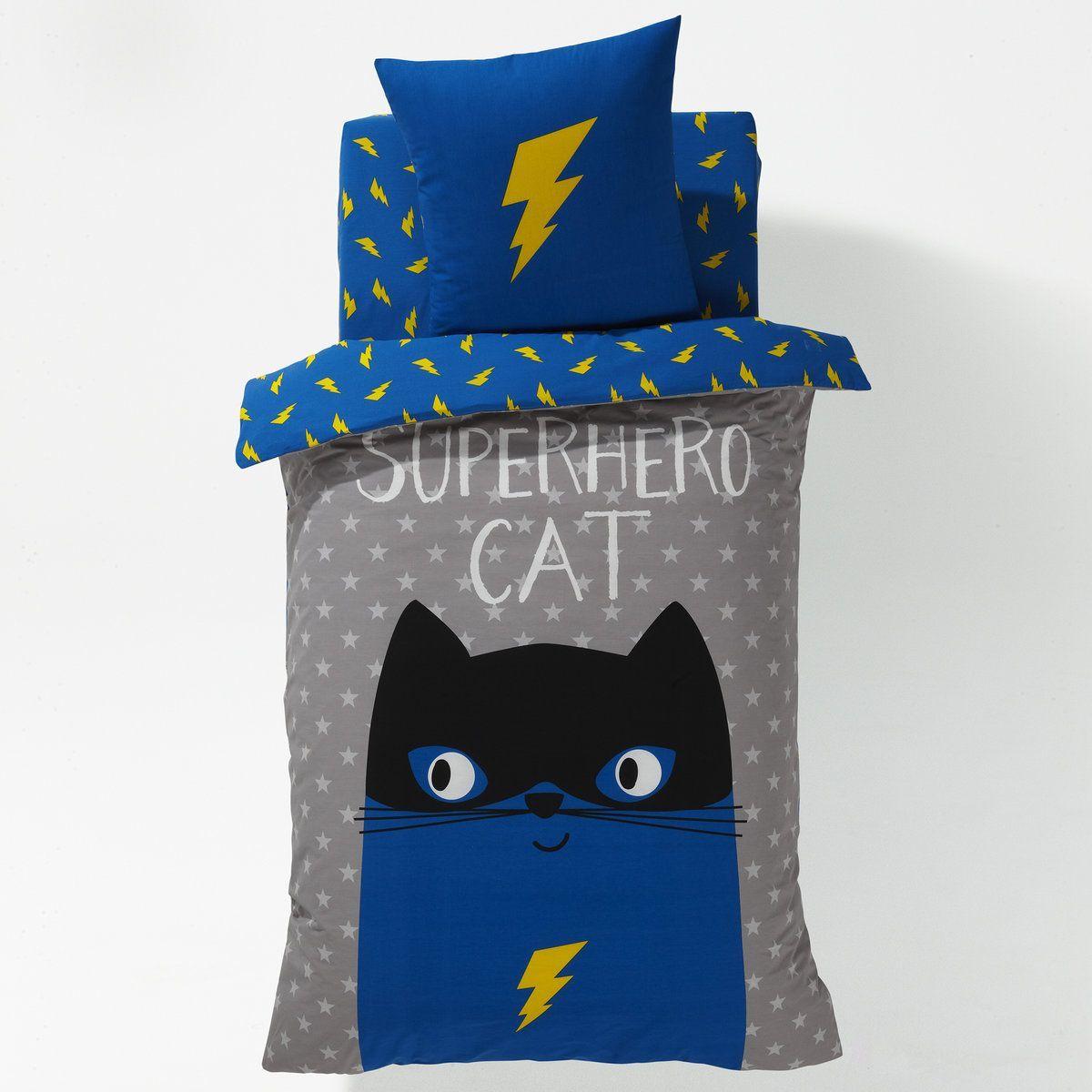 Housse De Couette Imprimee Garcon Super Hero Cat La Redoute