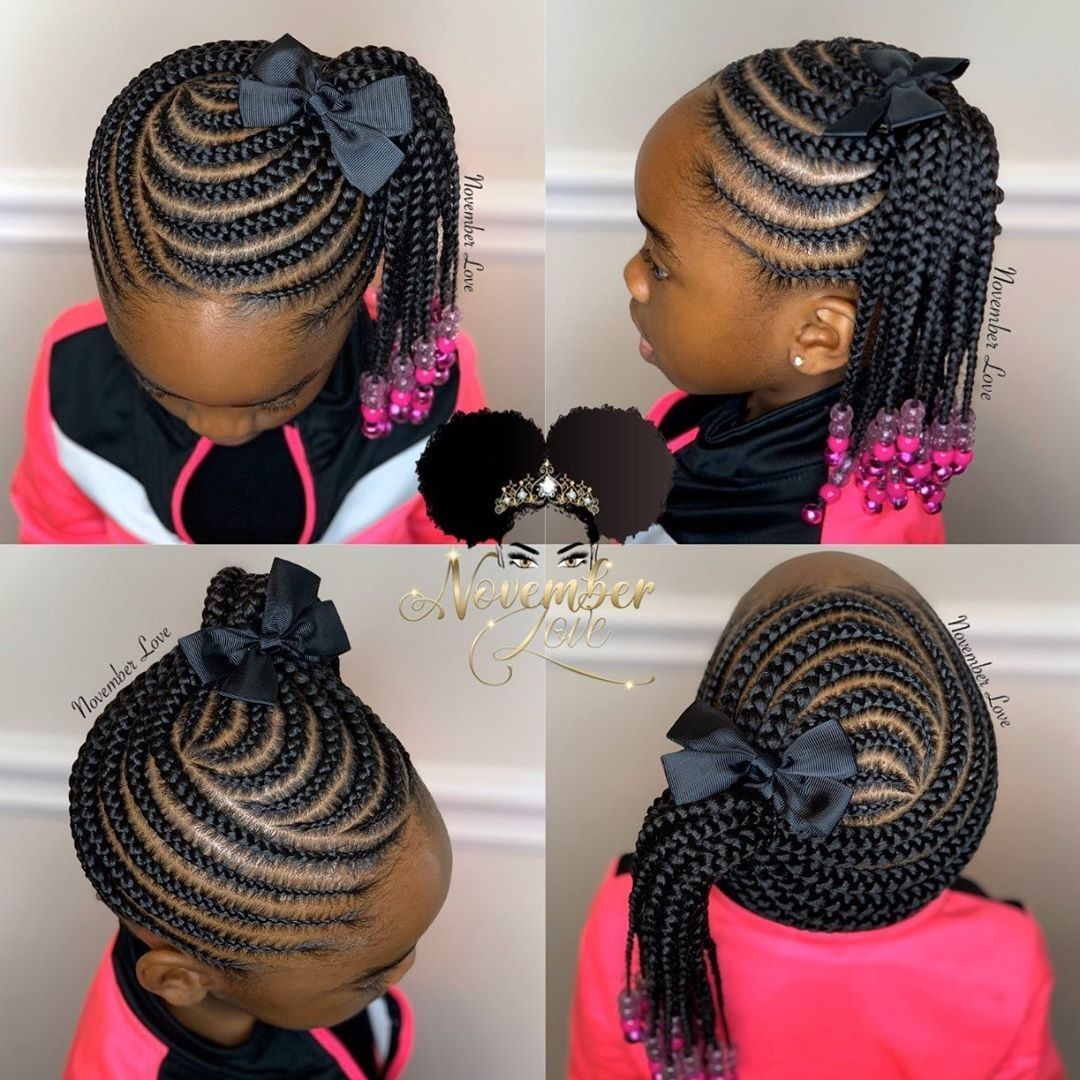November Love On Instagram Children S Braids And Beads Booking Link In Bio Childrenhairst Braids For Kids Braided Hairstyles Kids Cornrow Hairstyles