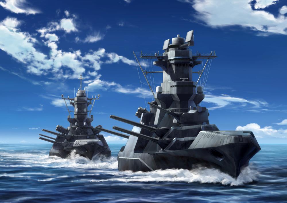 21st century Yamato battleship fan concept. Geek Tech