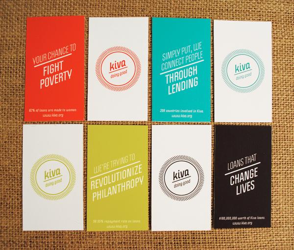 Brand redesign for Kiva, a non-profit microlending organization ...