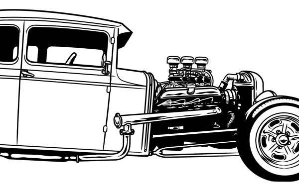 hot rod drawings