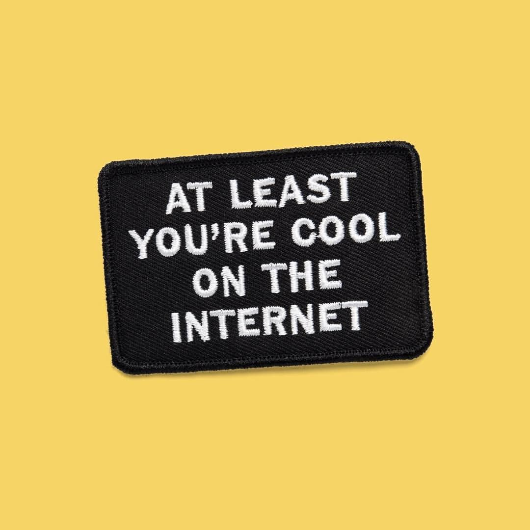"""adamjk: """" this embroidered patch might be an iron-on eyeroll or a badge of  honor for a small victory."""