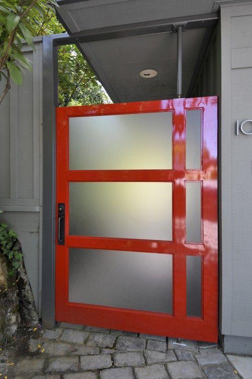 #modern red door