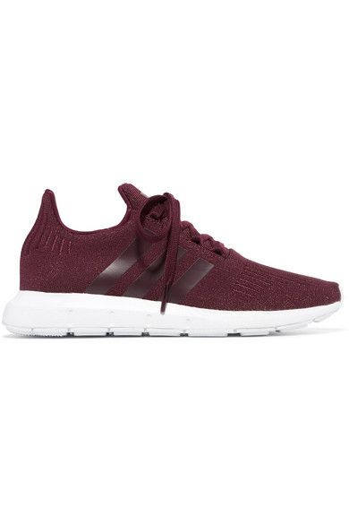 da23b87081fc78 adidas Originals - Swift Run Glittered Primeknit Sneakers - Burgundy ...