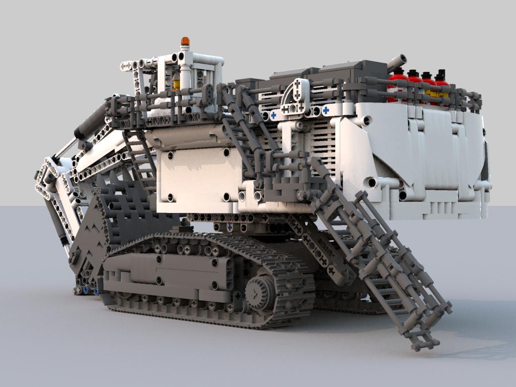 Liebherr R9800 Excavator | Lego | Lego creations, Lego, Lego