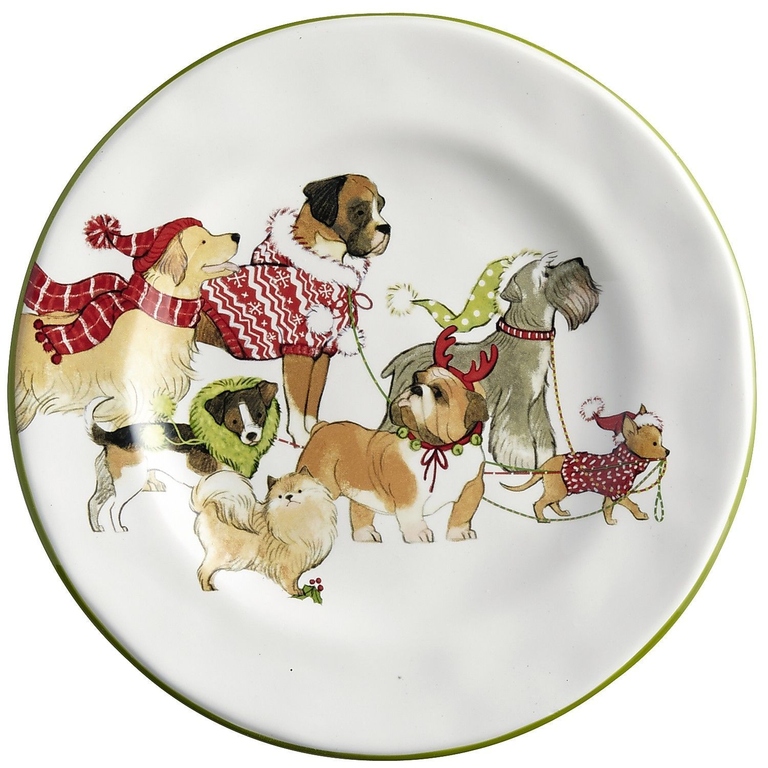 Park Avenue Puppies Salad Plate | Pier 1 Imports | Winter ...
