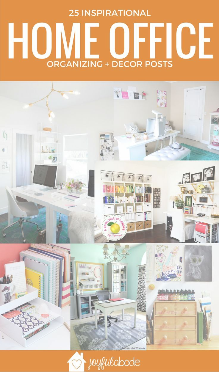 25 Ways to Organize Your Home Office - Organizing + Decor Ideas ...