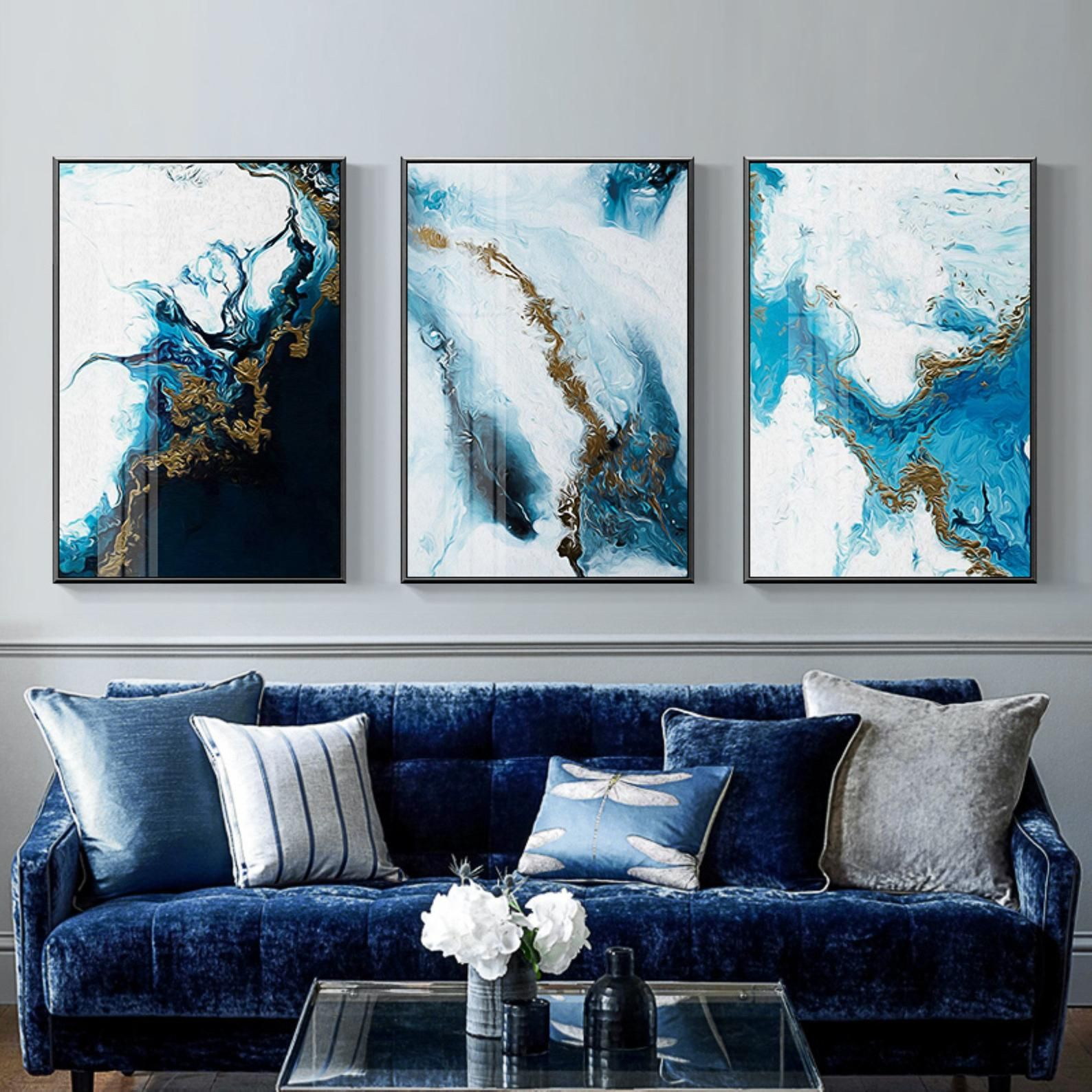 Nordic Abstract Color Canvas Painting Poster And Print Unique Decor Wall Art Pictures For Living Room Bedroom Bilder Wohnzimmer Abstrakt Wandkunst Wohnzimmer