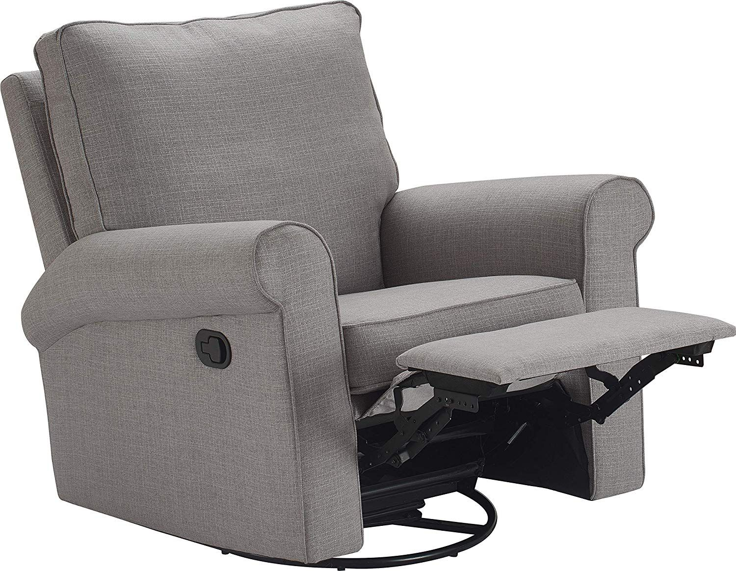 Truly Home Uph10159b Hughes Swivel Recliner Gray Swivel Recliner Swivel Recliner Chairs Cheap Leather Chairs #swivel #recliner #chairs #for #living #room