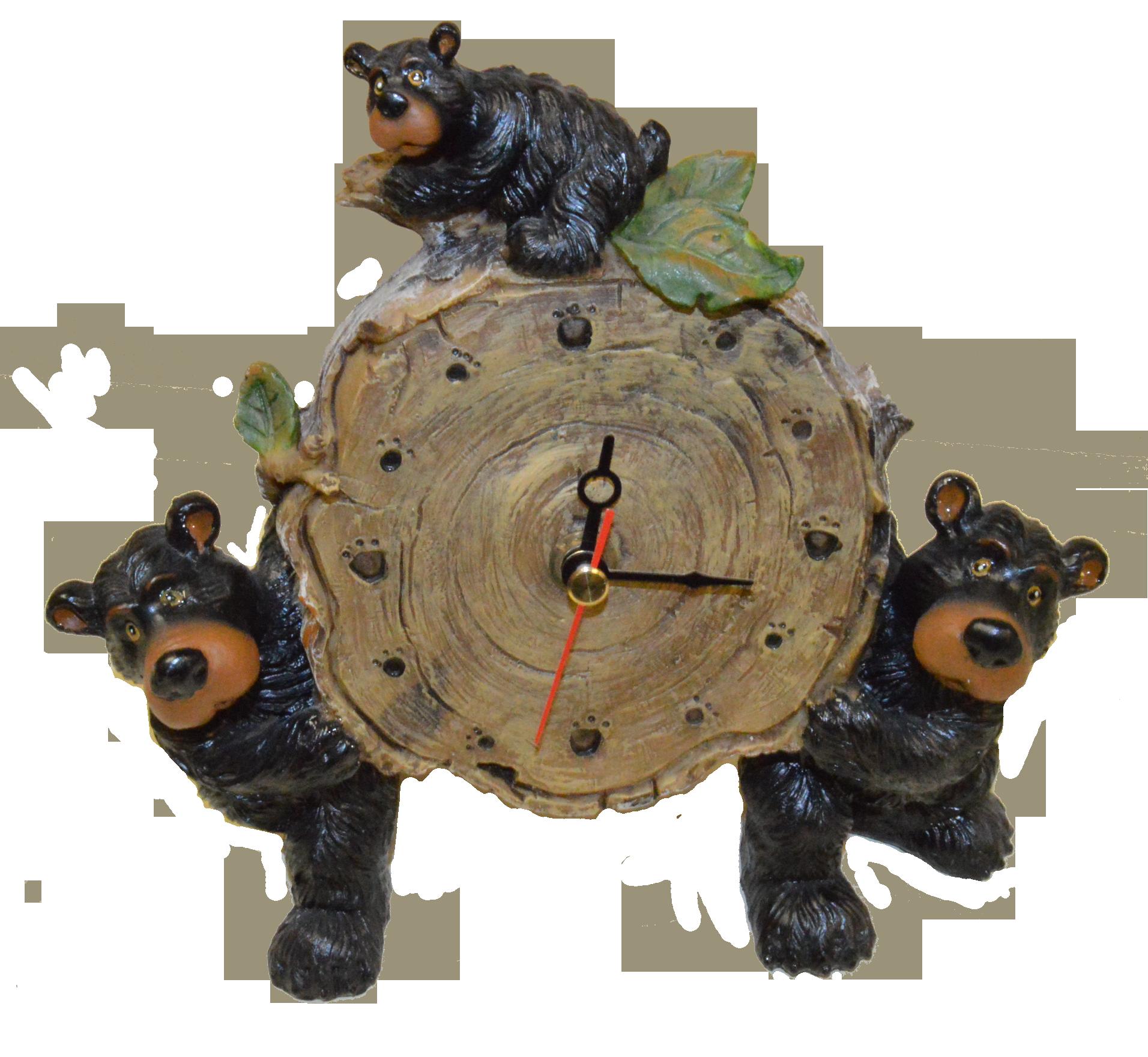 Willie Bear Clock Bear Decor Christmas Ornaments Holiday Decor