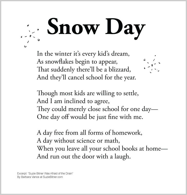 Snow Day poem. :-) | Quotes and things | Pinterest ...