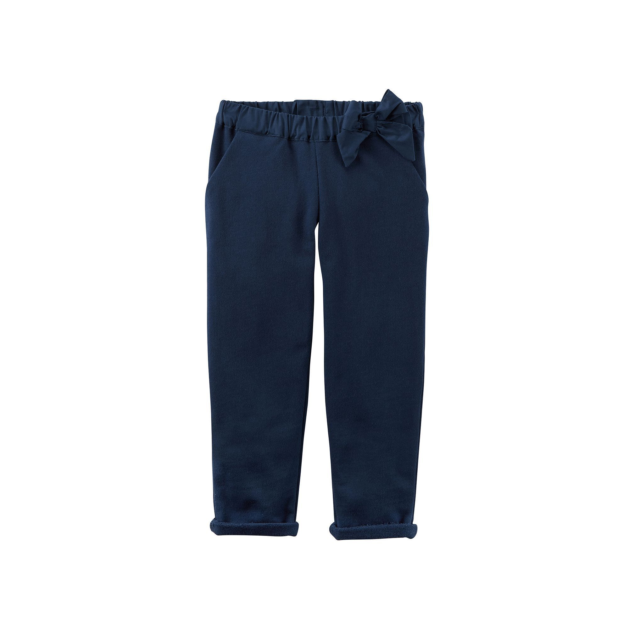 Toddler Girl Carter's Bow French Terry Pants, Blue