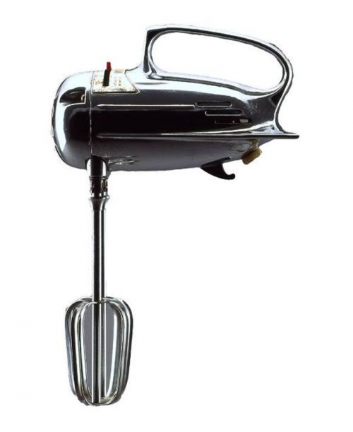 Mixall Jr. portable electric mixer (circa 1945–55) by unknown designer ( vintage kitchen appliance / retro product design )