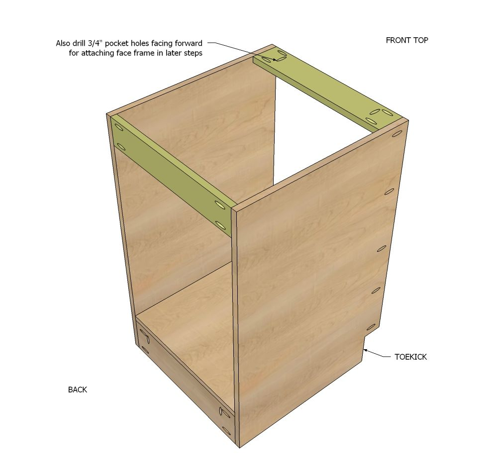 "Free Base Cabinet Plans: Build A 21"" Base Cabinet Door/Drawer Combo"