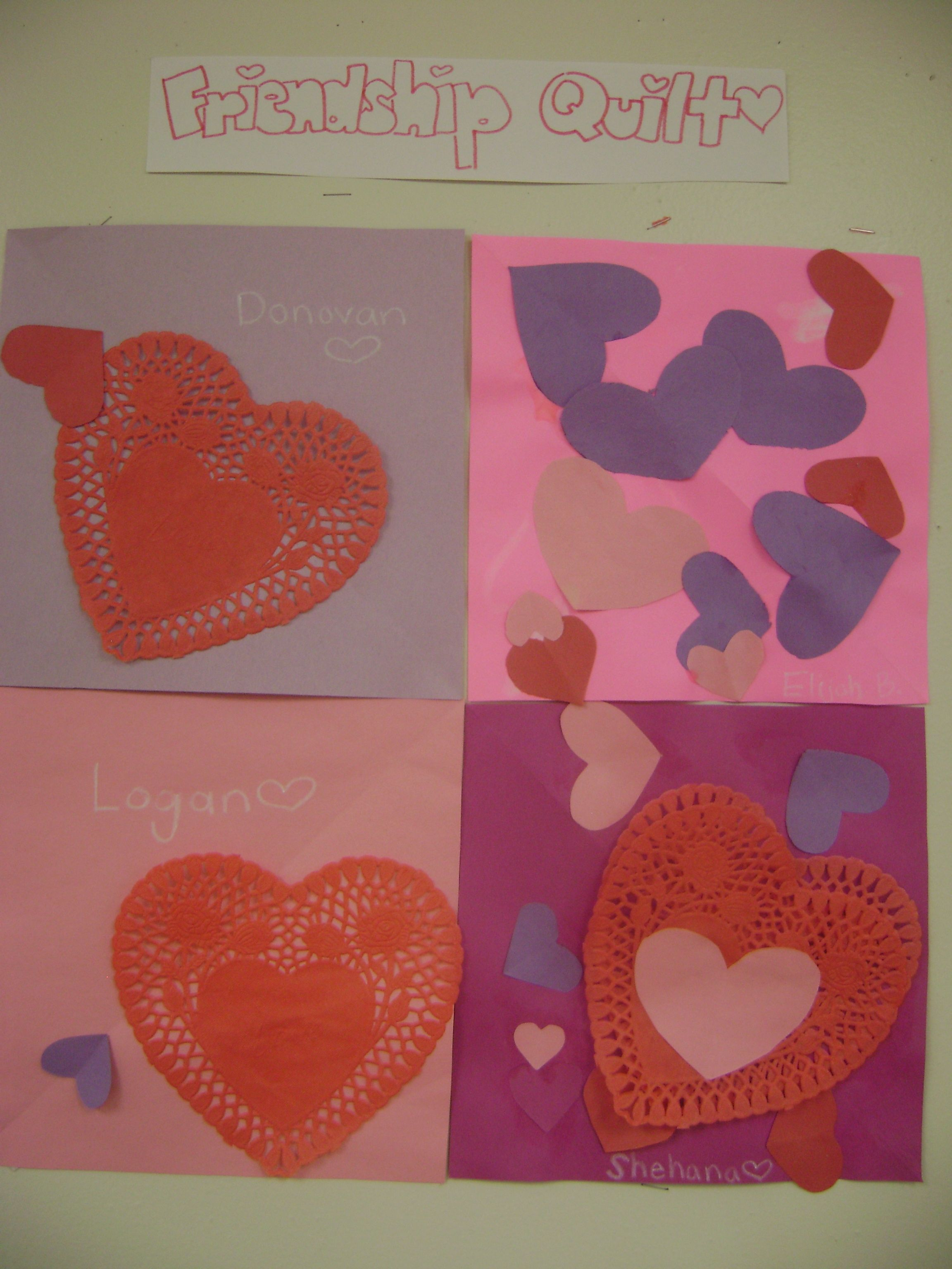 Friendship quilt february toddler activities pinterest for Preschool crafts for february