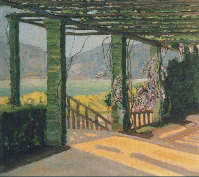 Winston Churchill - A Villa at the Riviera.