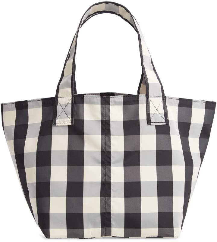 f219c2dad TRADEMARK Small Gingham Nylon Grocery Tote | Products | Bags ...