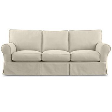 Friday Twill 91 Slipcovered Sofa Jcpenney Slipcovered Sofa Slipcovers Sofa