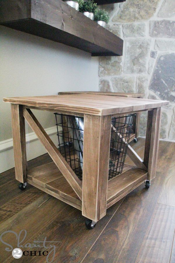 Charmant Follow These Free Woodworking Plans To Build This Easy Rolling Storage  Ottoman. Minimal Tools And