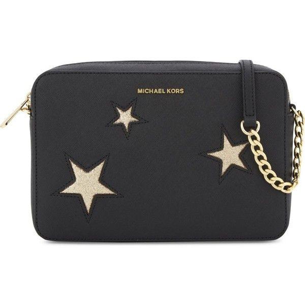 d207b61e6eec Michael Michael Kors Glitter star large saffiano leather cross-body ($163)  ❤ liked