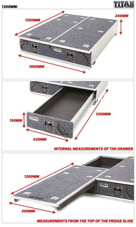 Titan Drawer System - 1300mm - Ute Drawer   4wd  U0026 Outdoor Products