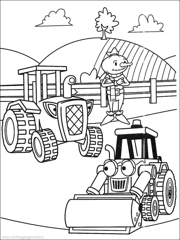 Travis With Scoop Coloring Pages Bob The Builder Coloring Pages
